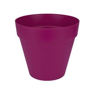 JARDINIÈRE - POT FLEUR  ELHO Pot de fleur rond - 50 cm - Rouge cerise