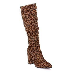 BOTTE Bottes léopard en suédine