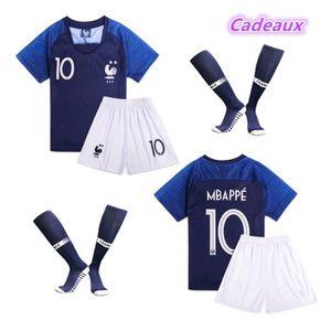9cc4d1d8fa624 MAILLOT DE FOOTBALL maillot de l'équipe de france 2 étoiles Mbappé num
