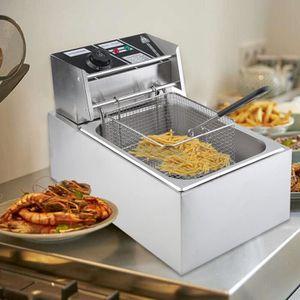 FRITEUSE ELECTRIQUE Friteuse électrique 10L 2.5KW Thermostat réglable