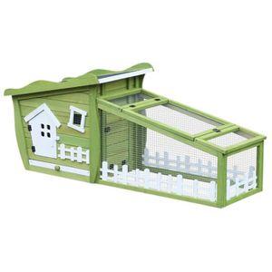 CLAPIER Clapier cage à lapins style cabane et pré dim. 155
