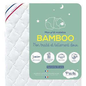 MATELAS BÉBÉ P'tit Lit -  Matelas Bébé Bamboo  - 70x140  cm - V