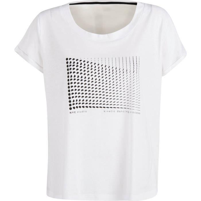 DANSKIN T-shirt Emilie - Femme - Blanc
