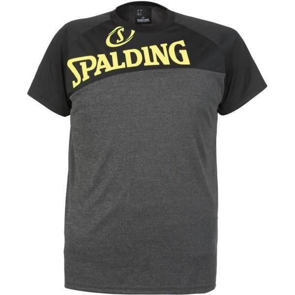 SPALDING T-shirt Street - Homme - Gris chiné