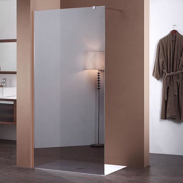 Paroi douche italienne effet miroir 100 cm x 200 c achat for Miroir pour douche