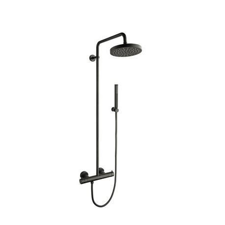 colonne de douche avec mitigeur thermostatique blackmat triverde cristina ondyna tv48613. Black Bedroom Furniture Sets. Home Design Ideas