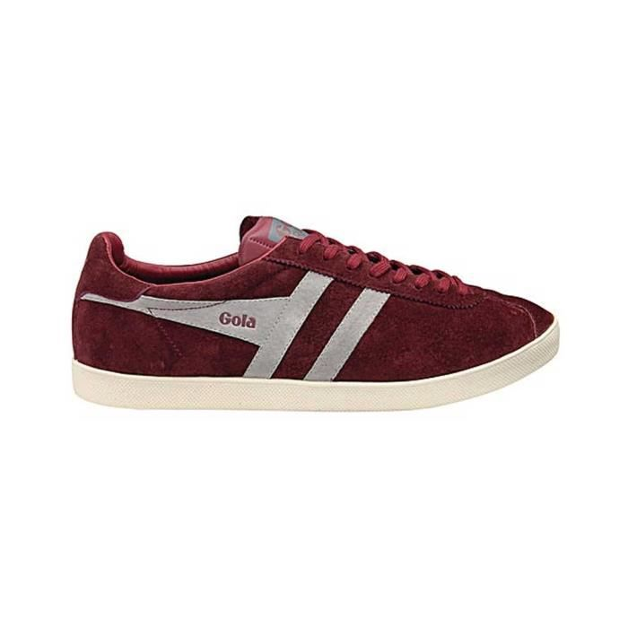 Chaussure Baskets basses Gola Trainer Burgundy Cool Grey Homme Pointure 43