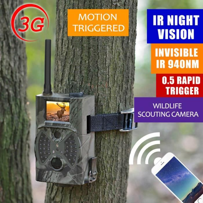 Lixada cam ra de chasse 2g 3g gsm wcdma mms sms smtp 16mp - Camera chasse gsm ...