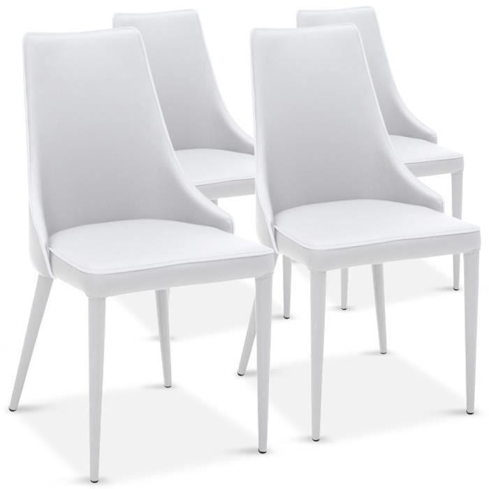 Lot de 4 chaises drago blanc