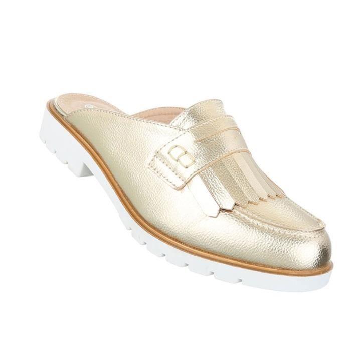 Jaune De Pantoletten noir or vieux D'été rouge Slipper bleu Sandales Chaussures Plage Rose 41 Or Femme argent Clair z4EXx
