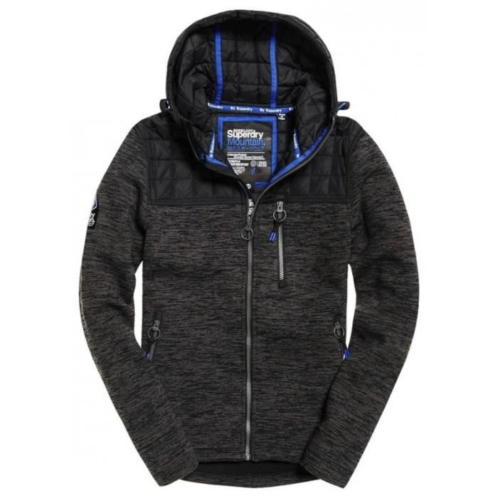 Grey Space Quilted Veste Black Superdry Mountain 6nqSSwIzg