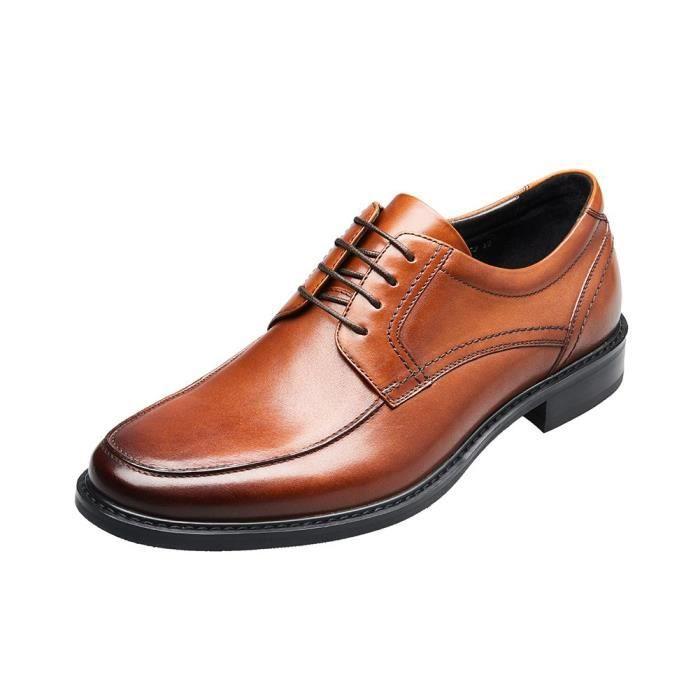 Chaussures en cuir d'affaires formelles à bout rond en dentelle Chaussures derby CCFK8 Taille-41