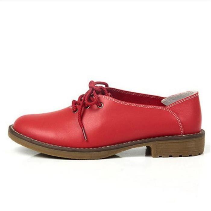 Derby Femmes Printemps Été Comfortable Mode Chaussures BJYG-XZ059Rouge39 jt79I