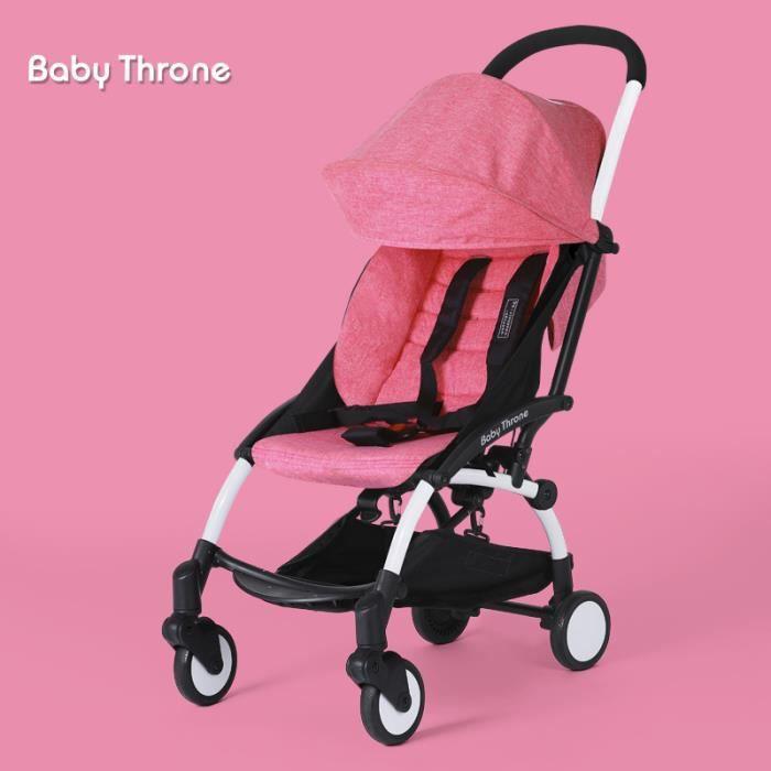 87d0b72de7d5 Pliable Pram Poussette bébé nouveau-né poussette Buggy transport bébé  Voyage voiture Rose