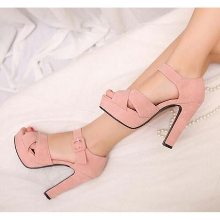 Chaussures avec boucle cheville d'été Femmes Sa... sp9H8Z