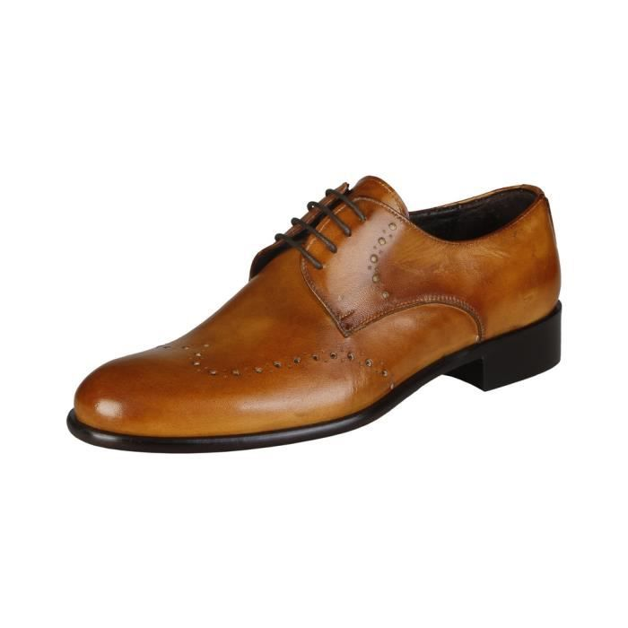 Made in Italia - Chaussures à lacet pour homme (ELIO_CUOIO) - Brun