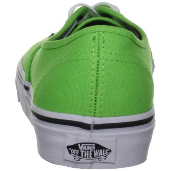Chaussure Basse VANS Authentic Green Flash Black Homme Pointure 44