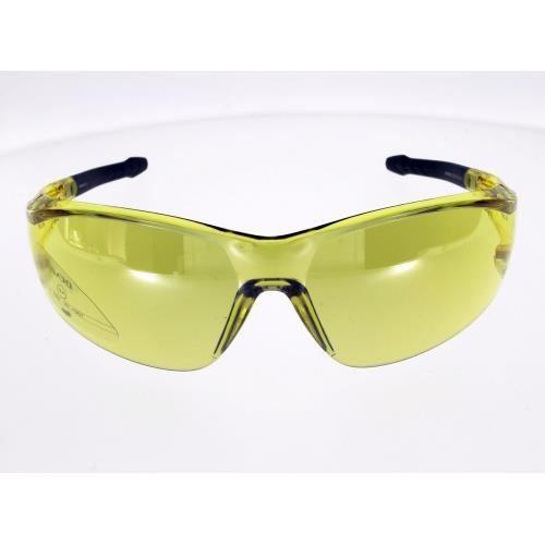 DEMETZ SPREO JAUNE, protection contre vent et projection, verres éclaircissants Adulte Indice 1 Ultra légère compatible casque