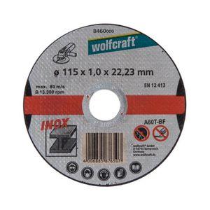 WOLFCRAFT Lot de 3 disques ? tronconner l'inox - Diam?tre: 125 mm