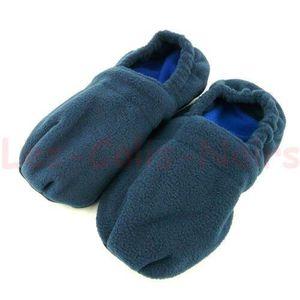 CHAUSSON - PANTOUFLE Chaussons Chauffant style HOT SOX Bleu L (39-42)