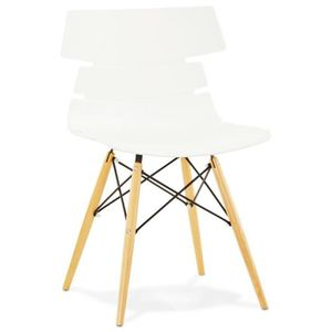 Chaise Chaise Originale Style Scandinave Cony Blanc Tend