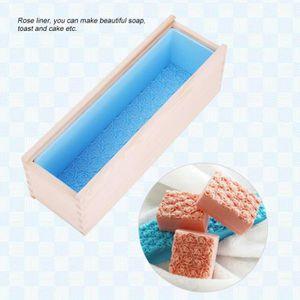Moule à savon Rectangulaire Moule à savon en silicone avec boîte