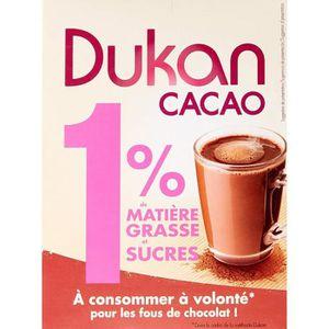 CACAO - CHOCOLAT Dukan Cacao en Poudre 1% de Matières Grasses/Sucre