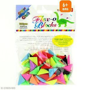 JEU DE ORIGAMI Recharge cônes Plastique Origami Blocks - 100 pcs