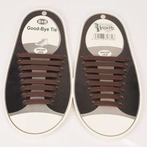LACET  1 kit de 16pcs Lacet de chaussures Adultes Silicon