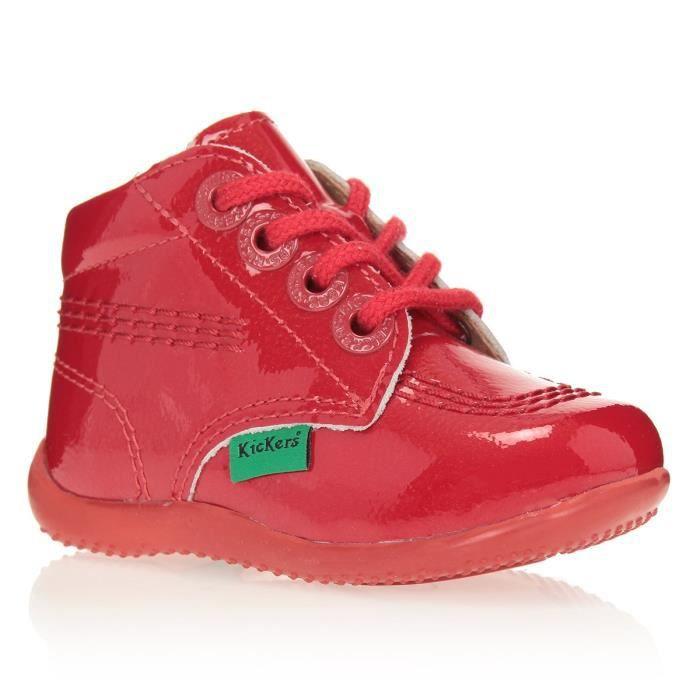 bb15076669982 KICKERS Bottillons Billista Chaussures Bébé Fille Rouge - Achat ...