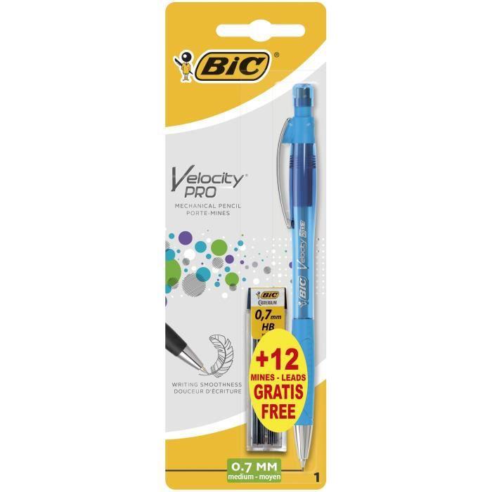 BIC® - Porte-mines rechargeable 0,7 HB Velocity® - Format spécial 1 +12 mines HB gratuites