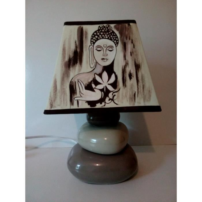Lampe Zen Peint Main De Bouddha Chevet dCxWBore