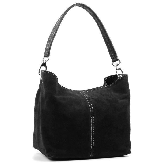 Mesdames Real Italian Suede en cuir Grand sac à main épaule sac fourre-tout GP23B
