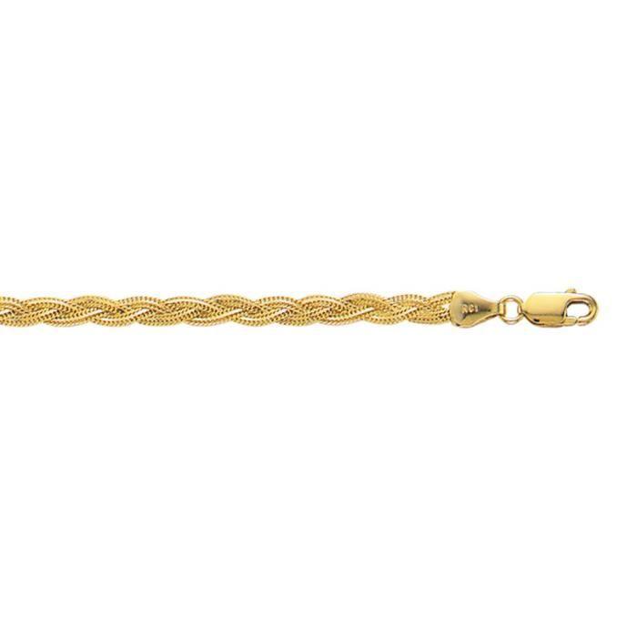 Fox-Collier Femme-Or 14 carats-tressé 18 cm