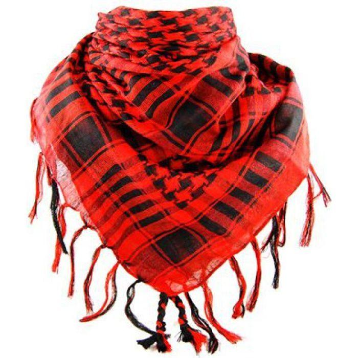 ECHARPE - FOULARD Keffieh palestinien Homme Femme rouge et noir 4d0411a7e41