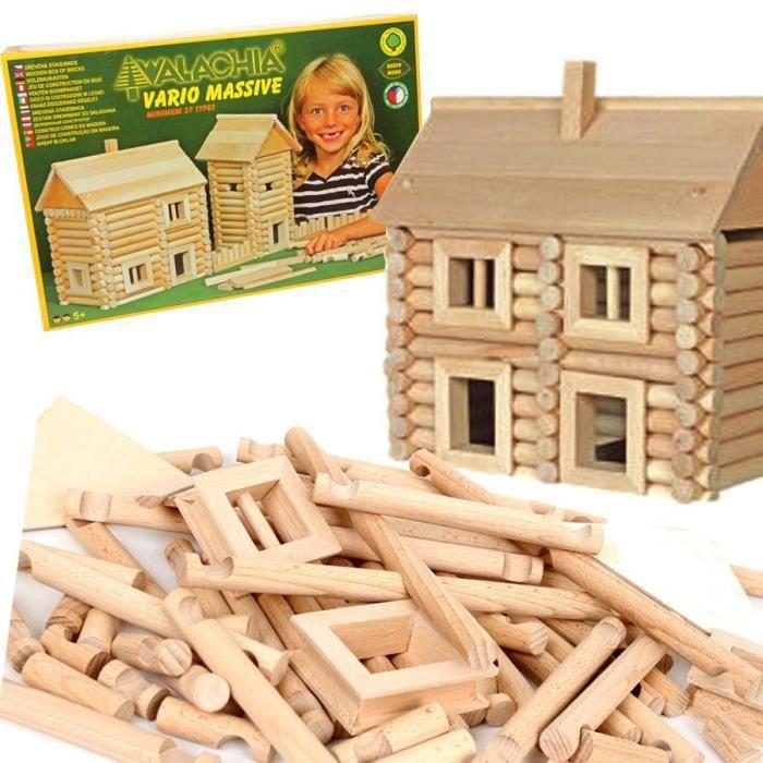 ASSEMBLAGE CONSTRUCTION Jeu de construction chalet en bois VARIO 209 PCS