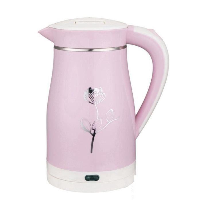 Rose Fleur Bouilloire Electrique Inox Temperature Réglable Anti ...
