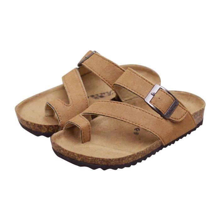Moollyfox Enfants Unisexes Cork Sandales Chaussures De Plage Flip Flops Tongs Avec Boucle Latérale Réglable