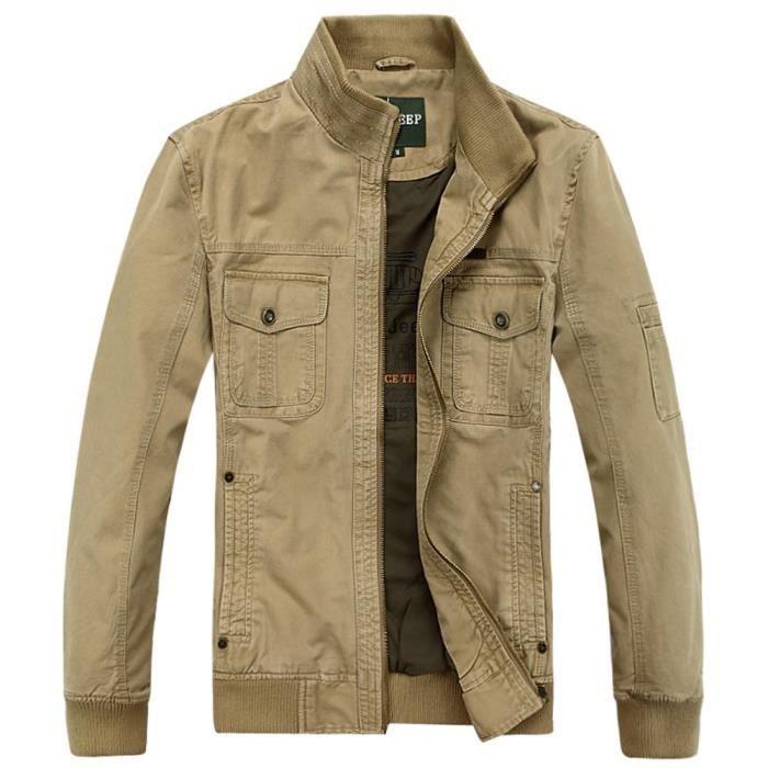 En Coton Casual Montant Homme Veste Vêtement Col Blouson D'extérieur dTZxw5qd
