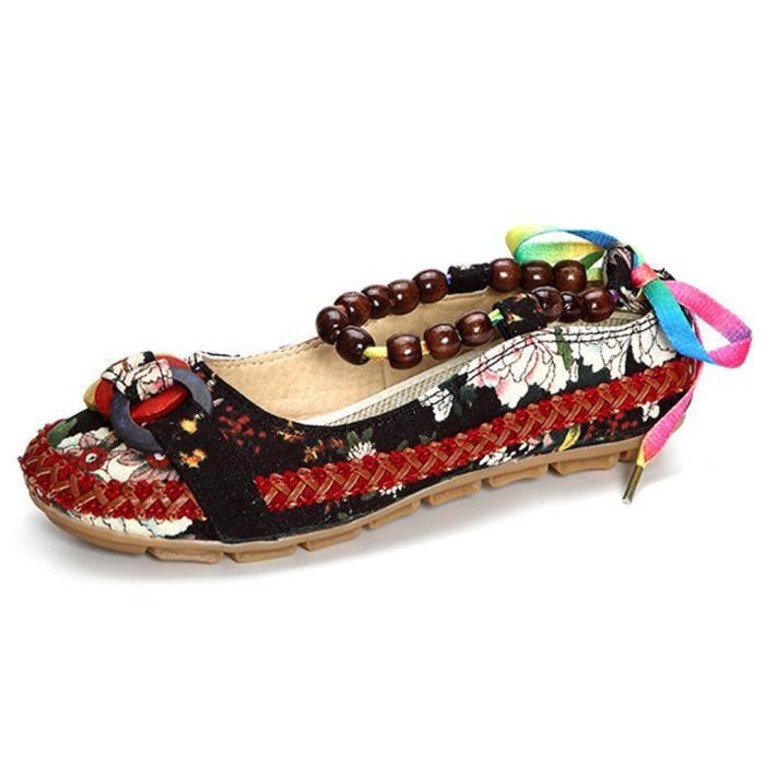 Chaussures Femme Printemps Été à fond épaiséChaussure ZX-XZ064Marron37 TCWIGa
