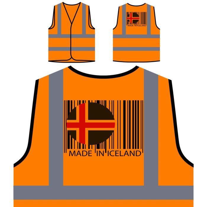 Protection De In Veste Travel Personnalisée made P Haute Funny À World Orange Novelty Visibilité Iceland qTw858