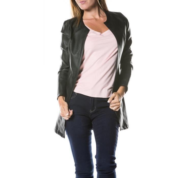 veste femme simili cuir achat vente veste femme simili cuir pas cher cdiscount. Black Bedroom Furniture Sets. Home Design Ideas