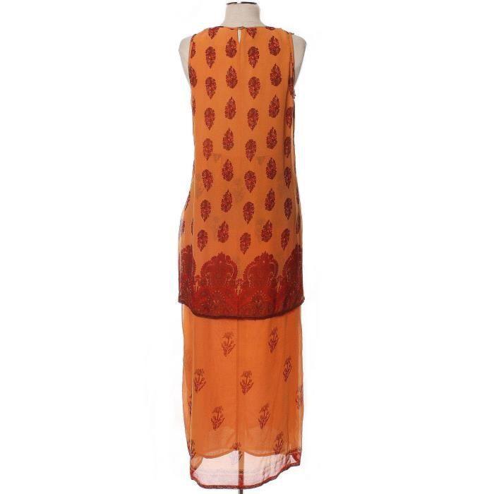 Robe RENé DERHY 36 Orange en Viscose