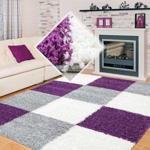 Tapis violet blanc - Achat / Vente pas cher