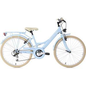 VÉLO DE VILLE - PLAGE Vélo enfant 24'' Toscana bleu TC 36 cm KS Cycling
