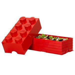 COMMODE DE CHAMBRE LEGO Brique de Rangements Empilable Rouge, 8 plots