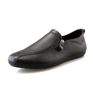 British Simple Slip-on Respirant Chaussures en cuir pour homme sNWL9YW