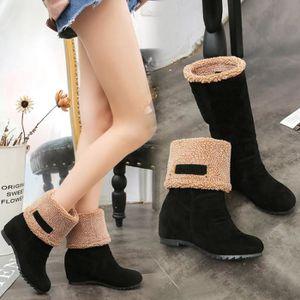 Napoulen®Mode bottes de neige hiver chaud populaire pour femmes Rouge-XXL70915497RD nhTd9