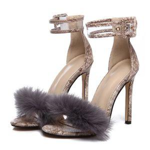 SANDALE - NU-PIEDS Femmes Sandales Chaussures Femmes Daim Hauts Talon ... d0e0b77574c