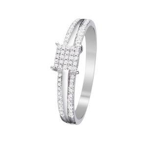 BAGUE - ANNEAU Bague Or Blanc et Diamants 0,15 carats